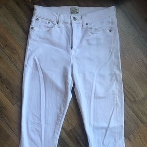 J. Crew Lookout High Rise Skinny White Jeans - 27